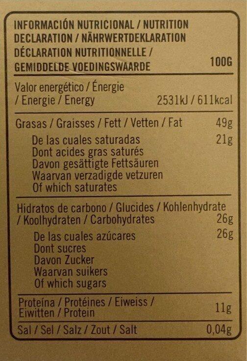 Cacahuète Dark chocolat - Valori nutrizionali - fr