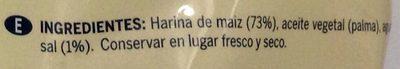 Tortilla chips - Ingredientes - es
