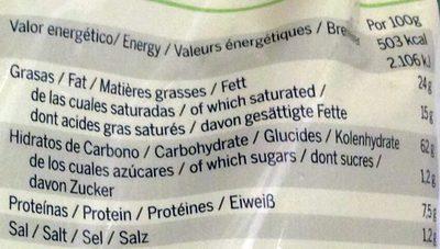 Tortilla chips - Información nutricional - es