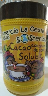 Cacao soluble con azúcar de caña