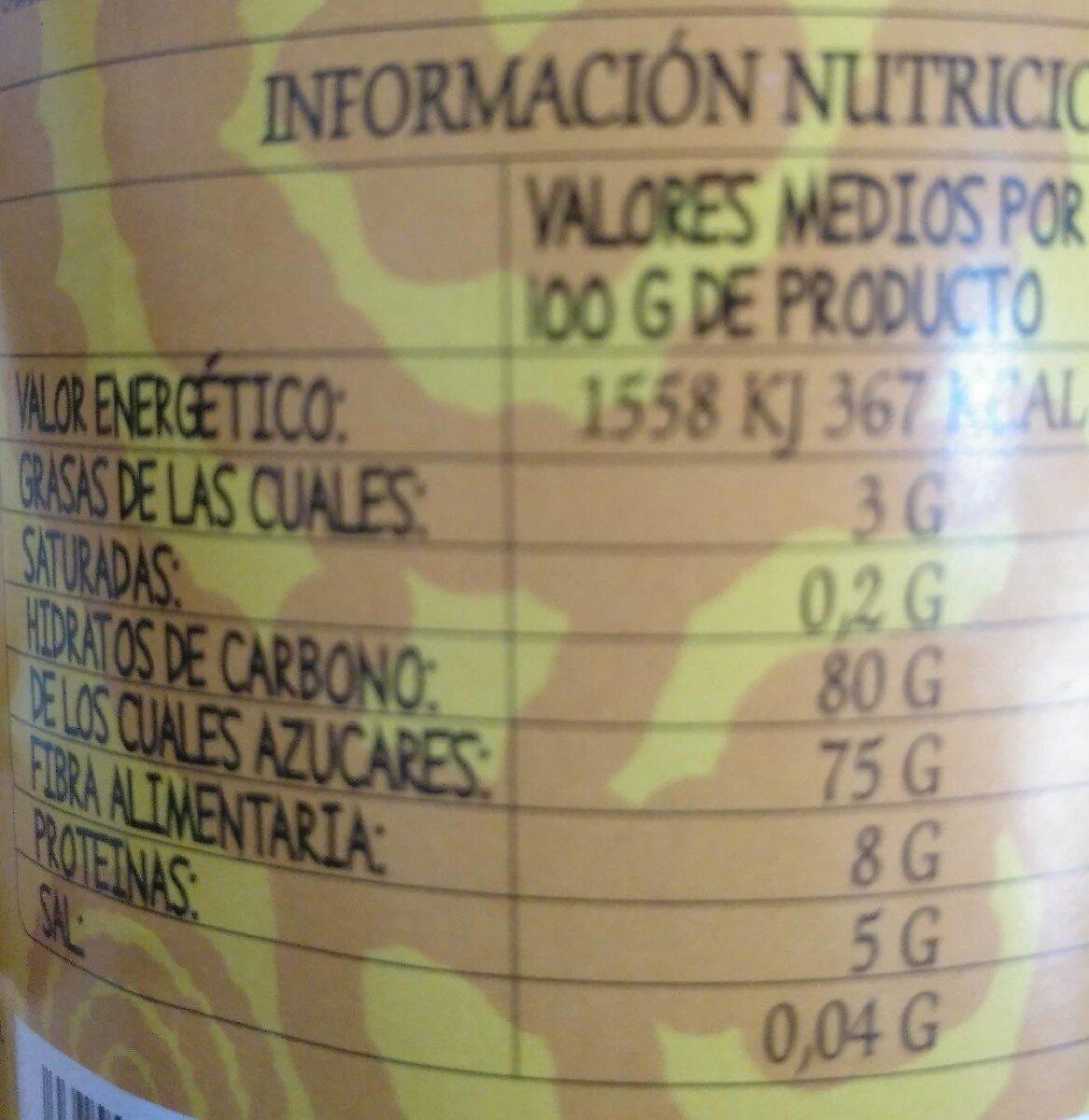 Cacao soluble con azúcar de caña - Informations nutritionnelles - es