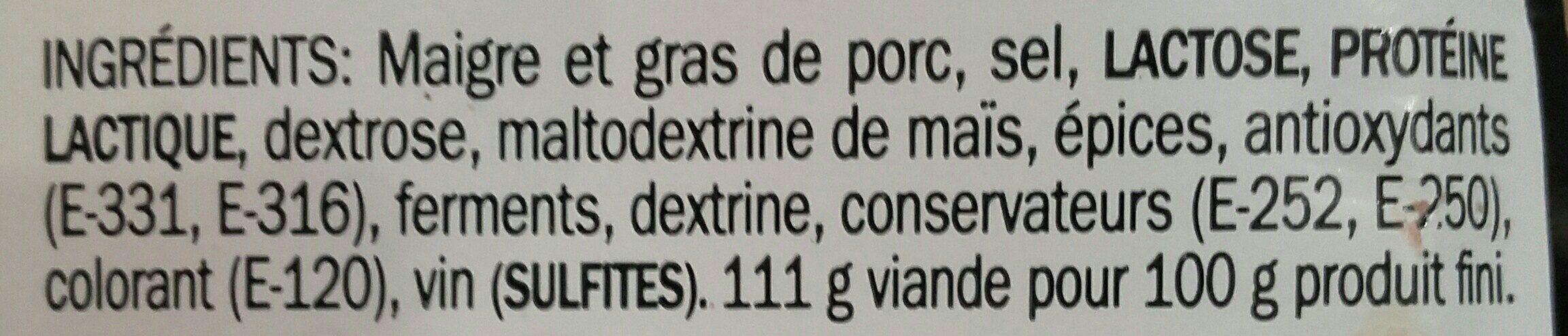 "Fouet Extra ""Le Catalan"" - Ingrediënten - fr"