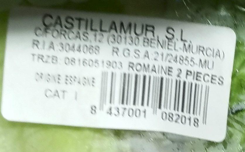 Salade Romaine - Ingrédients