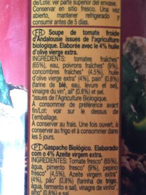 Gazpacho andaluz - Ingrediënten - fr