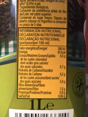 Gazpacho Andaluz - Voedingswaarden - fr