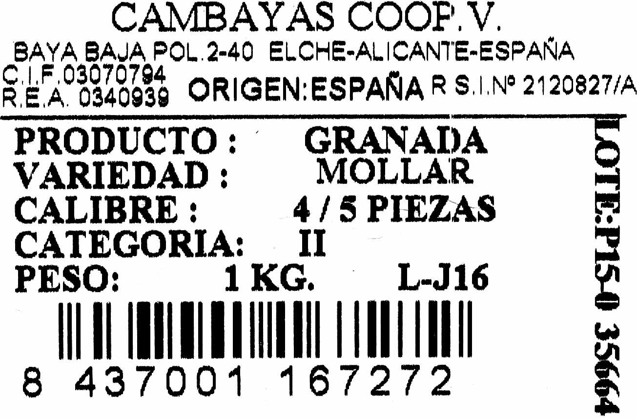 Granadas - Ingredientes