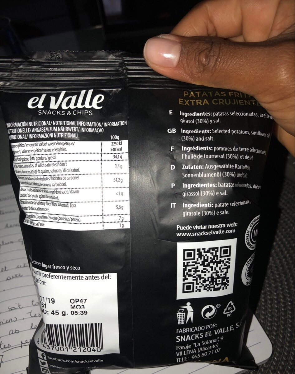 El valle - Ingredients - fr