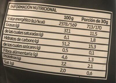 Patatas fritas artesanas - Informació nutricional