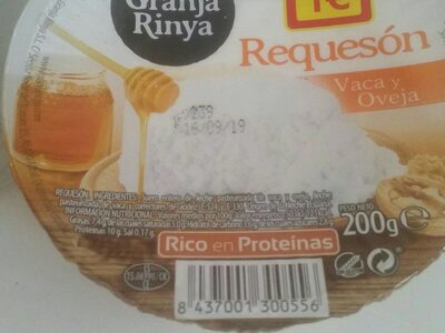 Requesón - Nutrition facts