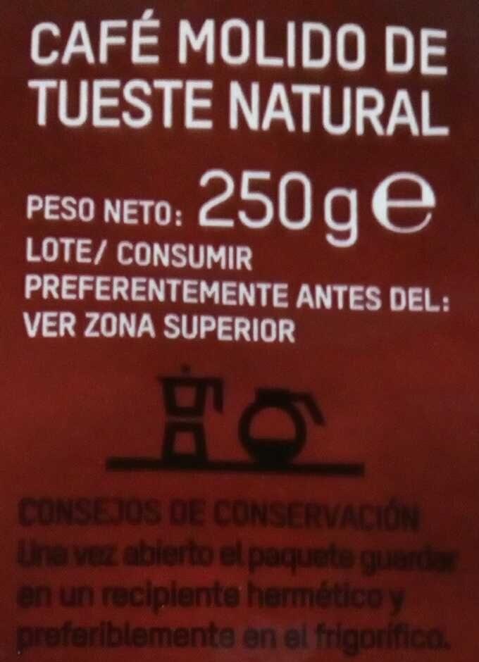 Tierra madre Café molido natural - Ingrediënten - es