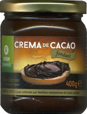 Crema de cacao - Producto