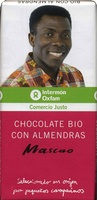 Tableta de chocolate negro con almendras 58% cacao - DESCATALOGADO - Producto