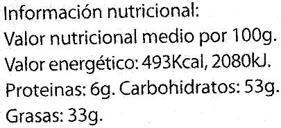 Chocolate negro sabor naranja 58% cacao - DESCATALOGADO - Nutrition facts - es