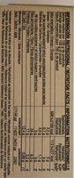 Noria - Bio Algues Wakamé Bio - 25g - Nährwertangaben - es