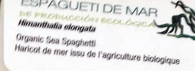 Espagueti de Mar - Ingredients