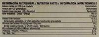 Algas kombu deshidratadas - Informació nutricional - es