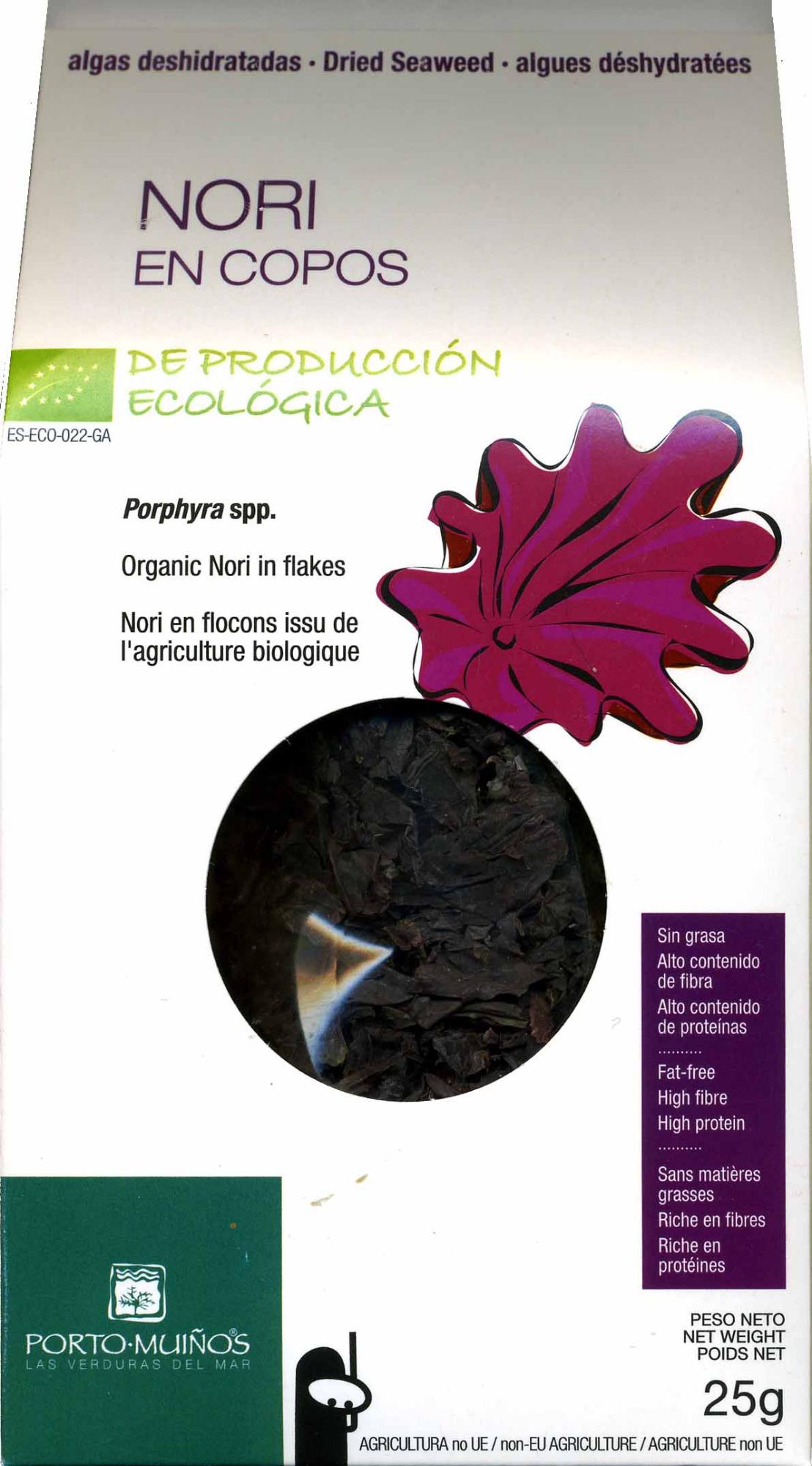 Algas deshidratadas nori en copos - Producte - es