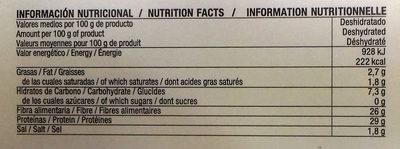 Algas deshidratadas nori en copos - Informació nutricional - es