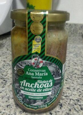 Filetes de anchoas en aceite de oliva