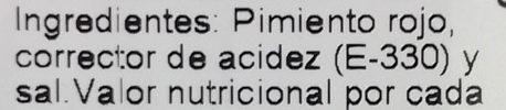 Pimientos rojos asados - Ingredients - es