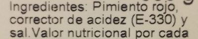 Pimientos Rojos Asados - Ingredientes - es