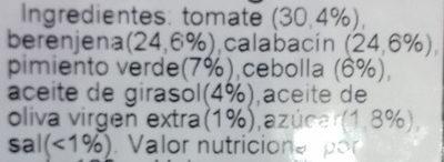 Pisto tradicional - Ingredientes - es