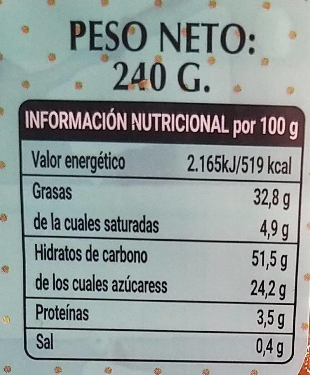 Pestiños miel - Nutrition facts