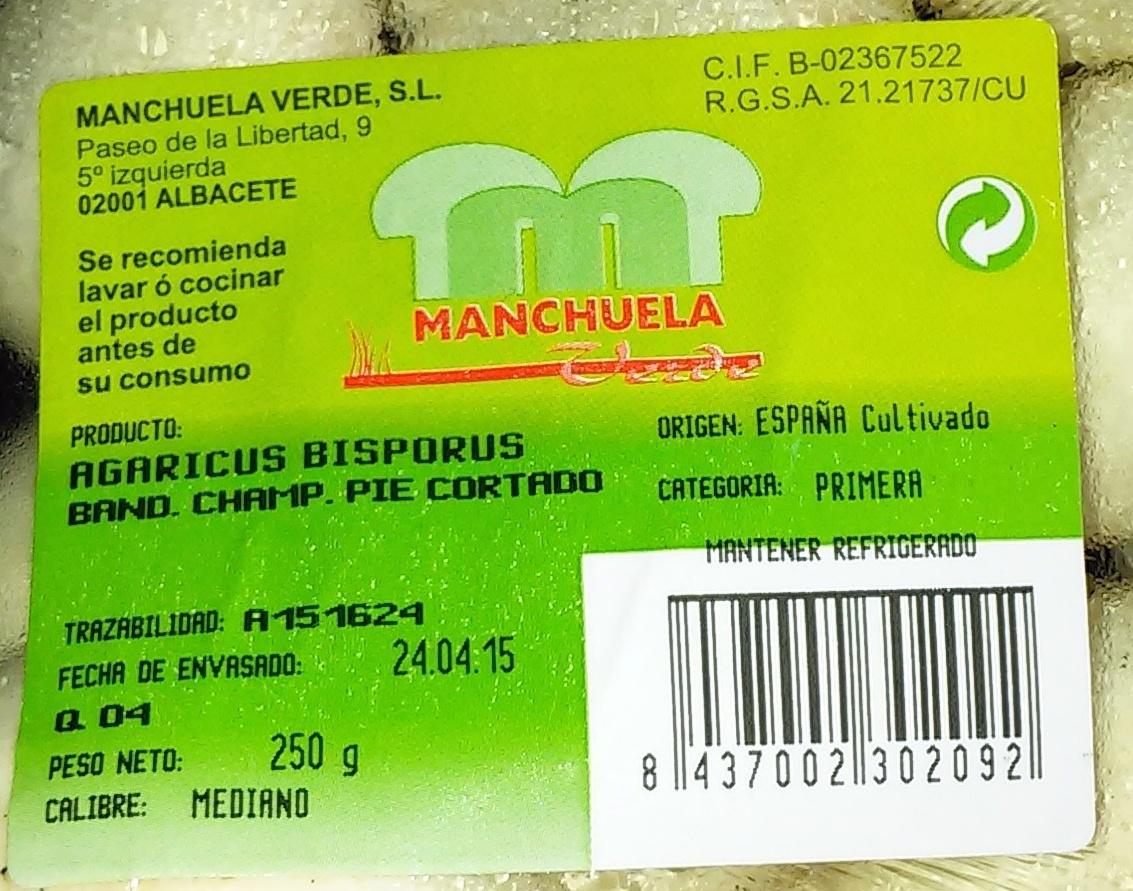 Champiñones enteros - Ingredients
