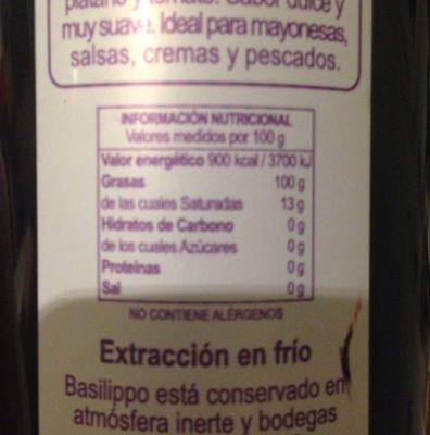 Huile olive extra vierge - Ingrédients