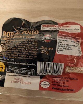 Roti de pollo relleno de jamon y queso - Product - es