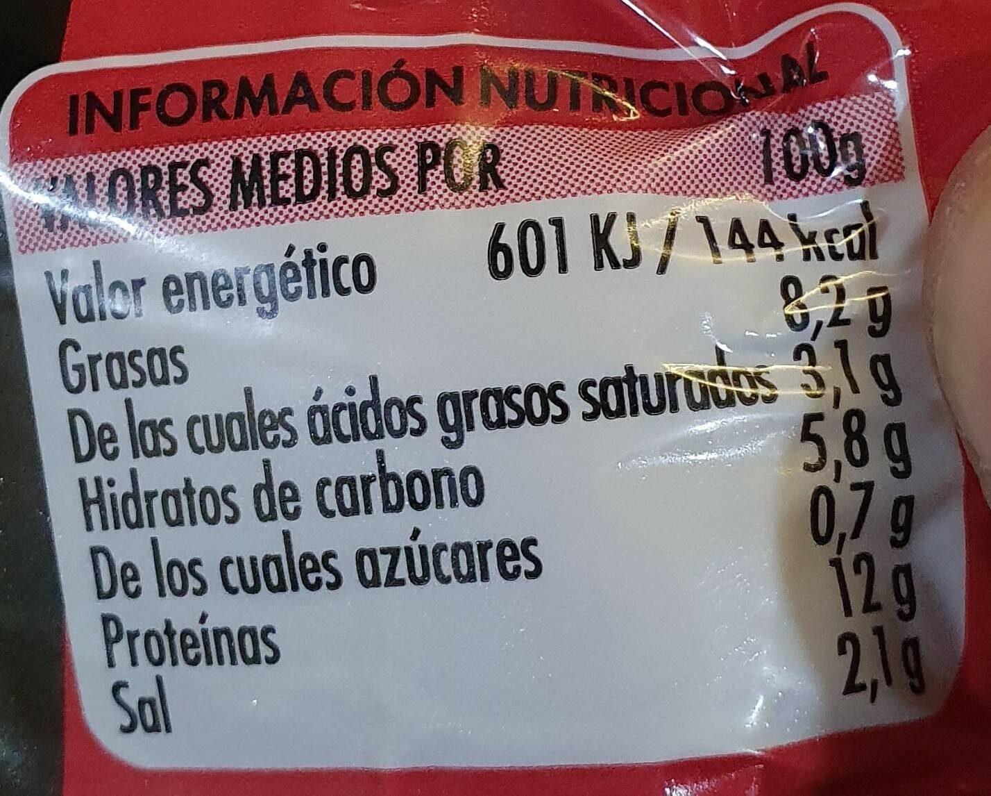 Roti de pollo relleno de jamón y queso - Informations nutritionnelles - es