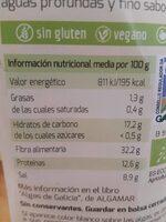 Algas wakame deshidratadas - Nutrition facts - es