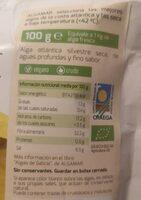 Algas wakame deshidratadas - Informations nutritionnelles - es