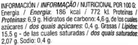 Pâté aux algues - Información nutricional - es
