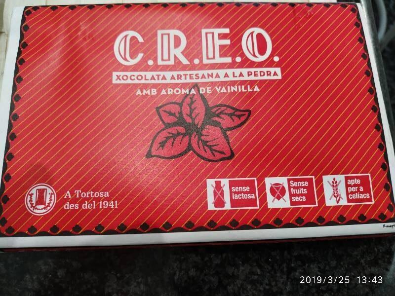 Xocolata artesana a la pedra amb aroma de vainilla - Producte - es