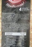 PAN REBANADO Multicereal - Ingredients