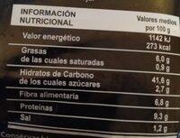 PAN REBANADO Multicereal - Informació nutricional