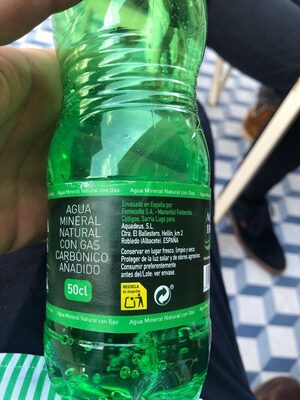 Aqua Deus agua mineral con gas - Ingredientes - es