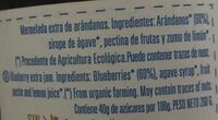 Mermelada de arandanos ecologica - Ingredientes