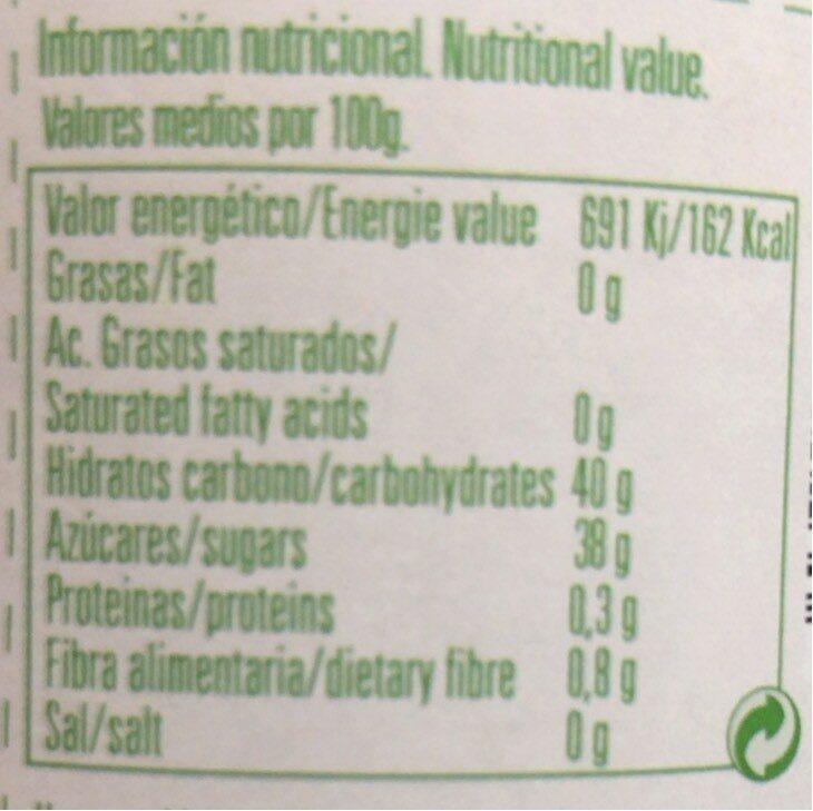 Mermelada extra de ciruela ecológica - Informations nutritionnelles - es