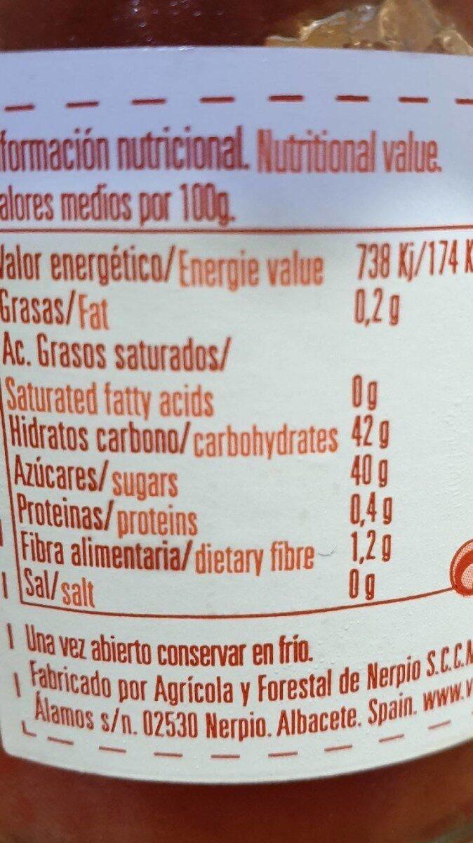 Mermelada de fresa ecológica - Informations nutritionnelles - es