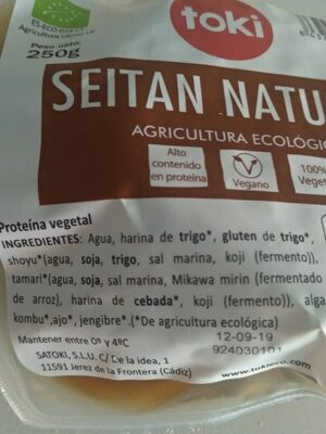 Seitan natural - Ingredientes - es