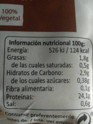 Seitan Natural - Informations nutritionnelles