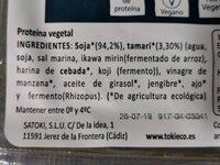 Tempen de soja macerado con tamari - Ingrédients