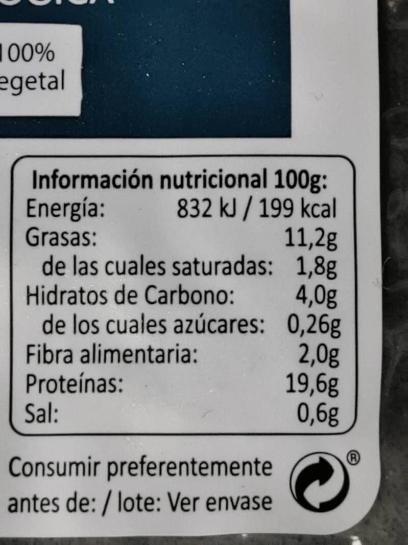 Tempen de soja macerado con tamari - Informations nutritionnelles