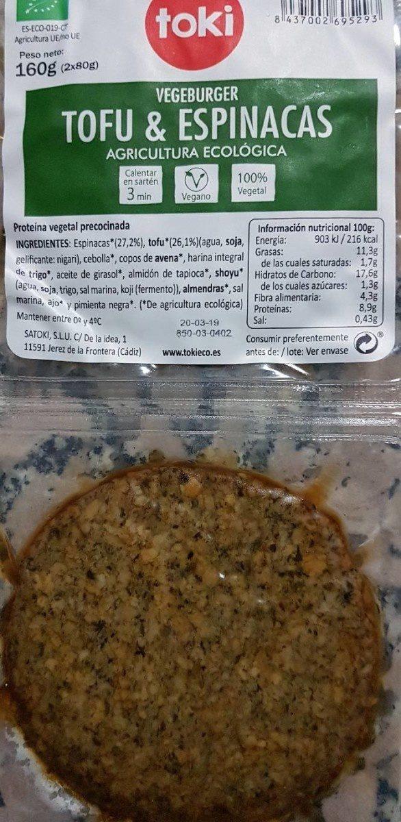 Vegeburger tofu & espinagas - Product