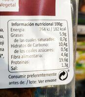 Seitan rebozado con ajo y perejil - Nutrition facts - es