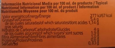 Gazpacho andaluz Solfrío - Informations nutritionnelles