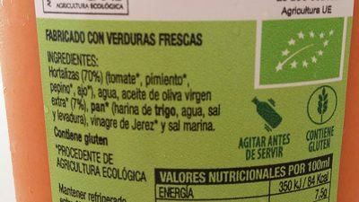 Gaspacho Andaluz - Ingredientes