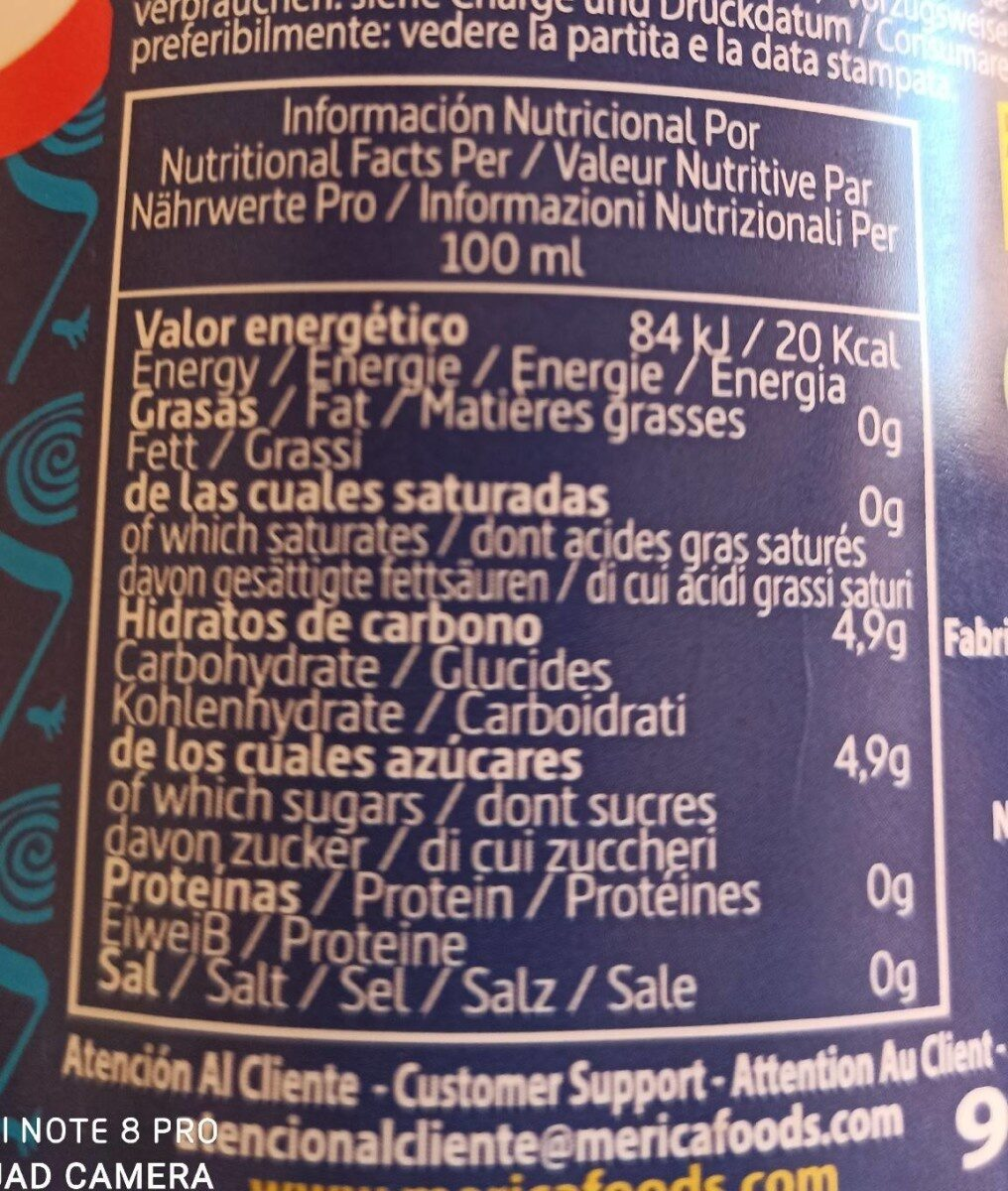 Andis kola - Voedingswaarden - fr